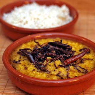 Moong Dal and Red Lentils with Browned Onions