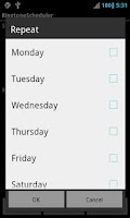 Screenshot of Ringtone Scheduler Pro