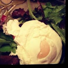 Mixed Green Salad W/ Poached Egg and Honey Mustard Vinaigrette