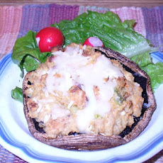 Stuffed Portabella Mushrooms With Salmon
