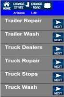 Screenshot of Truck Stops And Services