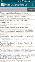 Screenshot of Vade Mecum Direito Brasil