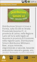 Screenshot of Distribuzione Simoni