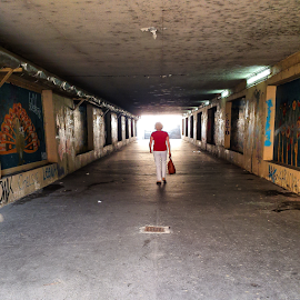 Underpass by Oliver Švob - Instagram & Mobile Android ( sony, sony xperia, underpass, instagram, walking, girl, female, woman, mobile )