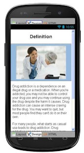 Drug Addiction Information - screenshot