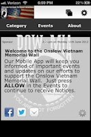 Screenshot of Onslow Vietnam Memorial Wall