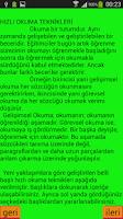 Screenshot of Hızlı  Kitap Okuma Teknikleri