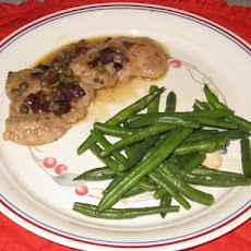 Pork Medallions With Olive Caper Sauce