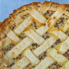 Sour Cream Gooseberry Pie
