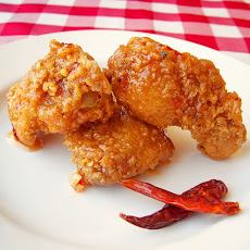 Crispy Sweet Sticky Spicy Wings