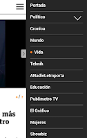 Screenshot of Publimetro Chile