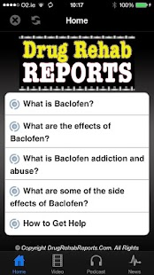 Baclofen Addiction and Abuse - screenshot