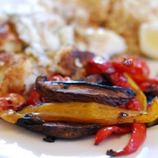 Balsamic Roast Mushrooms Tomatoes & Peppers