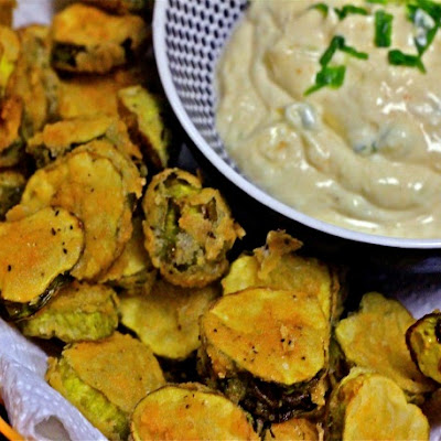 Fried Pickles with Spicy Remoulade