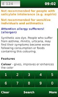 Screenshot of E-Codes Free: Food Additives