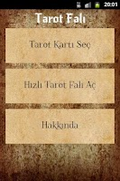 Screenshot of Tarot Falı