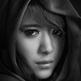 Rani by Bimo Wicaksono - People Portraits of Women ( woman, b&w, portrait, person )