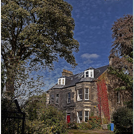 house by Sandy Crowe - Buildings & Architecture Homes ( home, sky, trees, house, aberdour,  )
