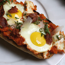 Prosciutto, Fried Egg, and Parmesan on Country Bread Recipe | Yummly