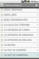 Screenshot of Prensa andaluza