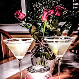 The Lemon Drop by John Witt - Food & Drink Alcohol & Drinks ( valentines dinner, martini, romantic, roses, lemon drop )
