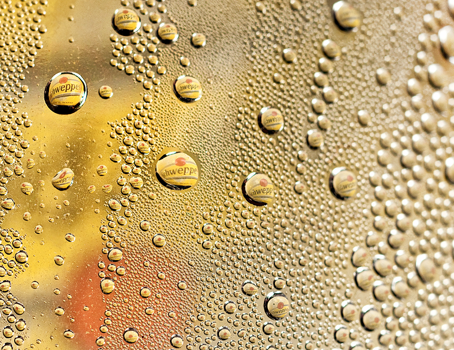 Schweppes by Marianna Armata - Artistic Objects Other Objects ( water, logo, macro, reflection, pattern, droplet, drop, shweppes, marianna armata, repetition )