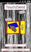 Screenshot of Touch2Send Lite