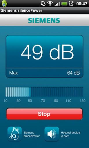 Siemens silencePower dB meter