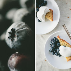 Cornmeal Cake With Blueberries And Maple Whipped Cream