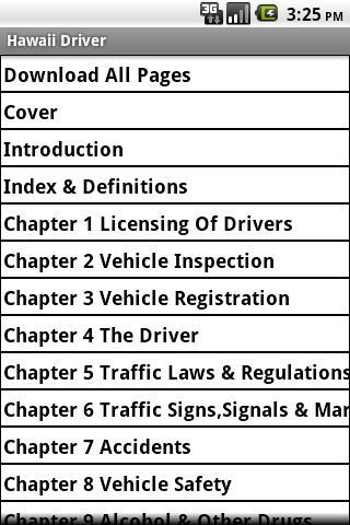 Hawaii Driver Handbook