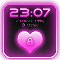 Go Locker Theme Pink Glow Pro icon