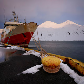 Siglufjordur Port by Fokion Zissiadis - Transportation Boats ( seascape port ship siglufjordur iceland )