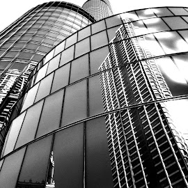 Chicago Reflections by Jon Foley - Instagram & Mobile iPhone ( reflection, black and white, architecture, chicago, iphone )