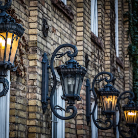 Lights by Mike Vought - Buildings & Architecture Architectural Detail ( salt lake city, alley )