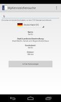 Screenshot of MyKennzeichensuche