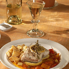 Roasted Wild Striped Bass with Peperonata
