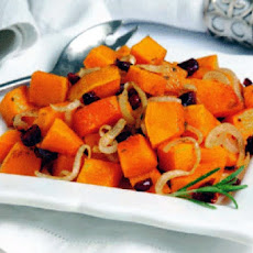 Baked Butternut Squash and Cranberries