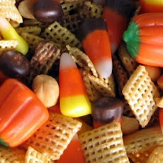 White Chocolate Halloween Chex Mix