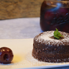 Molten Lava Cake with Brandied Cherry