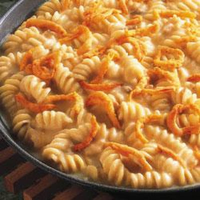 Three-Cheese Pasta Skillet