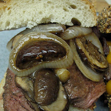 French Onion Sliced Steak Croissant Sandwich