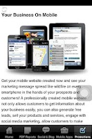 Screenshot of Internet Marketing Company App