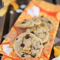 Cookies with Dark Chocolate, Mango, & Coconut
