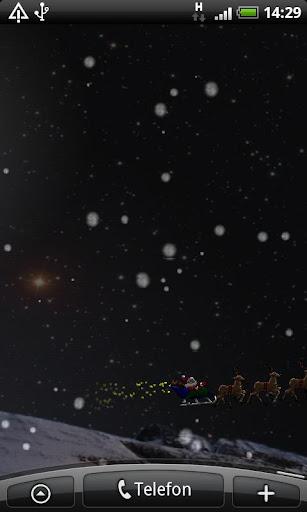 Flying Santa Live Wallpaper