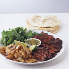 Skirt Steak Fajitas with Lime and Black Pepper