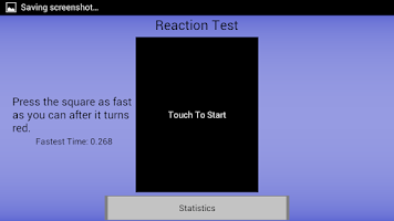 Screenshot of Reaction Test