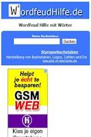 Screenshot of Wordfeud Hilfe (Cheat)