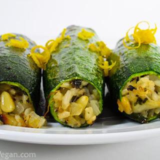 Vegetarian Stuffed Zucchini With Brown Rice, Black Beans ...