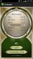 Screenshot of Al-Moazin (Prayer Times)