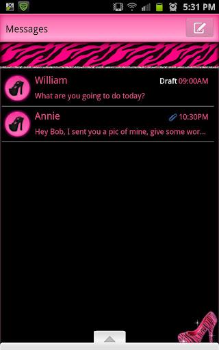 GO SMS - Pink Zebra Heels